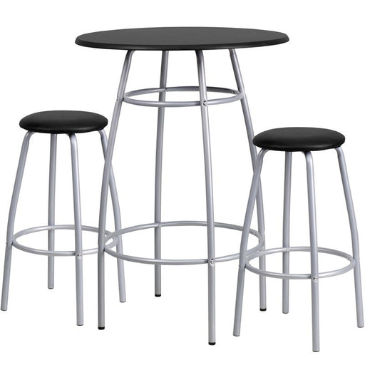 Bar Height Table and Stool Set-Dining Room Set-Flash Furniture-Wall2Wall Furnishings