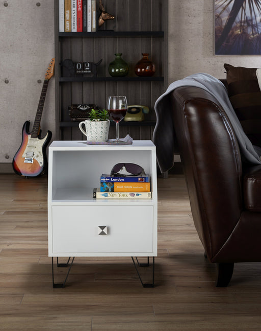 Brier Contemporary Style Single Drawer End Table-end table-Furniture of America-Wall2Wall Furnishings