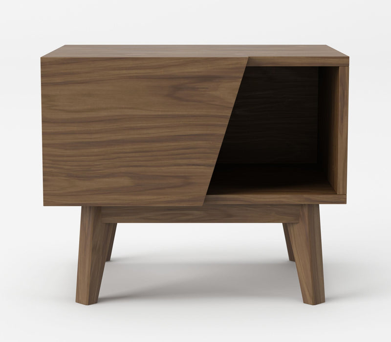 Modrest Abelard - Mid-century Walnut Nightstand-Nightstand-VIG-Wall2Wall Furnishings