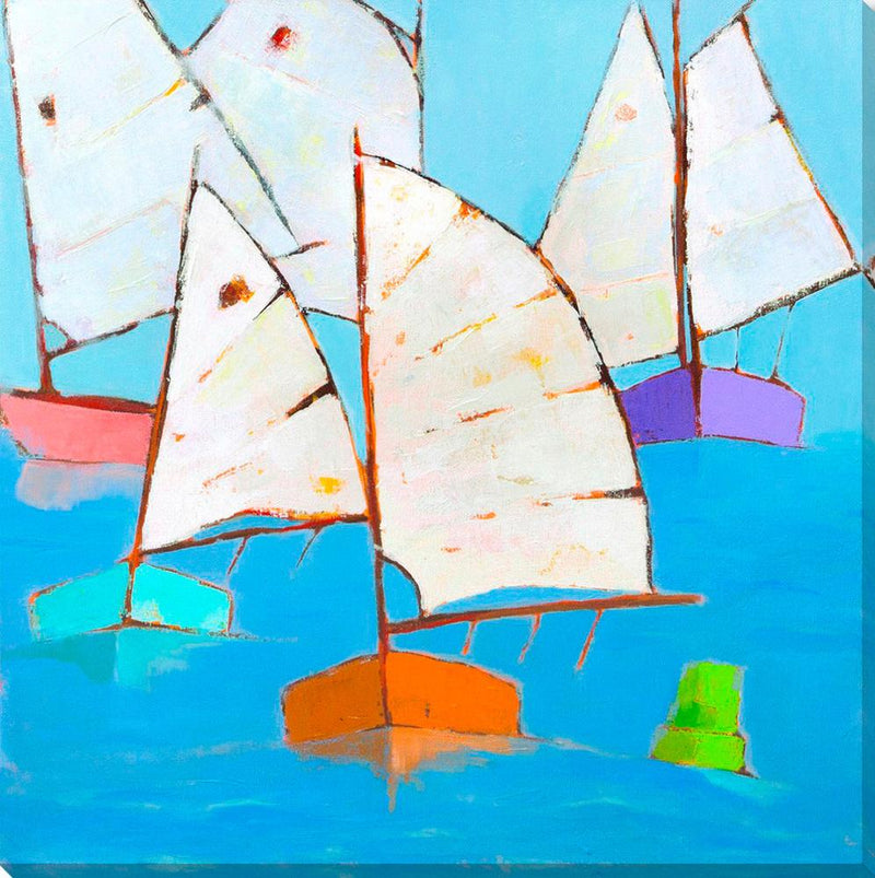 Boats Abound - Wall Art-Wall Art-Surya-Wall2Wall Furnishings