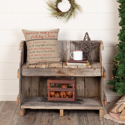 Sawyer Mill Holiday Chores Pillow-Pillow Cover-VHC-Wall2Wall Furnishings