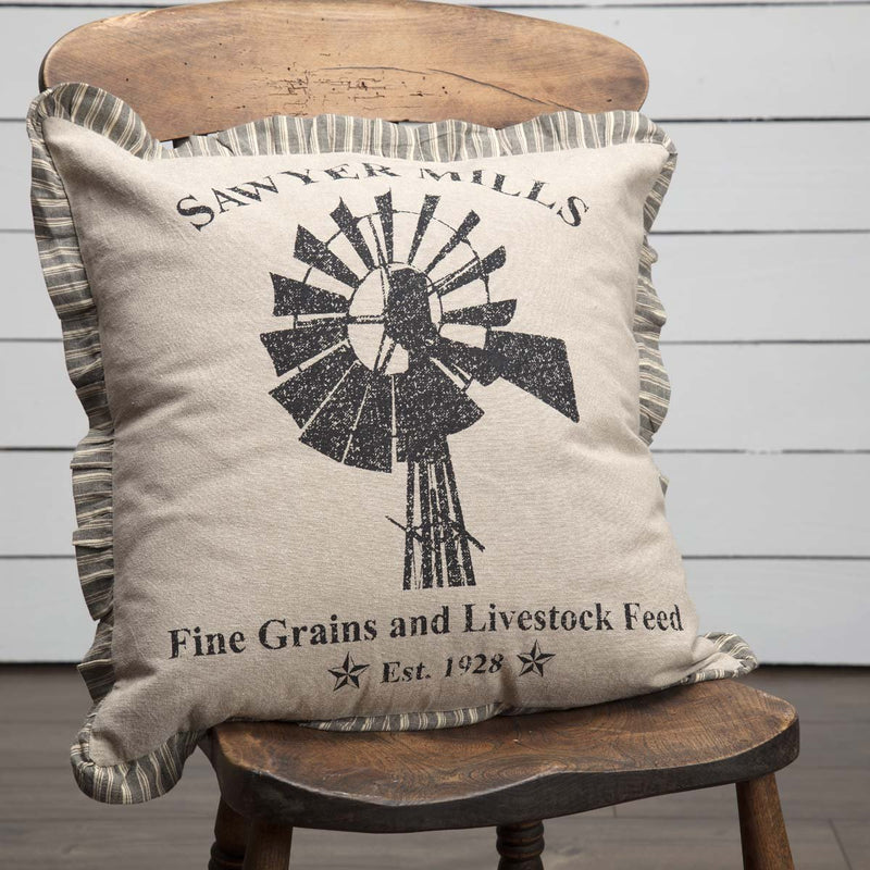 Sawyer Mill Windmill Pillow-Accent Pillow-VHC-Wall2Wall Furnishings