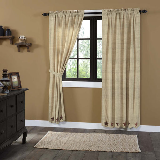 Abilene Star Panel Set of 2 84x40-Curtain Panel-VHC-Wall2Wall Furnishings