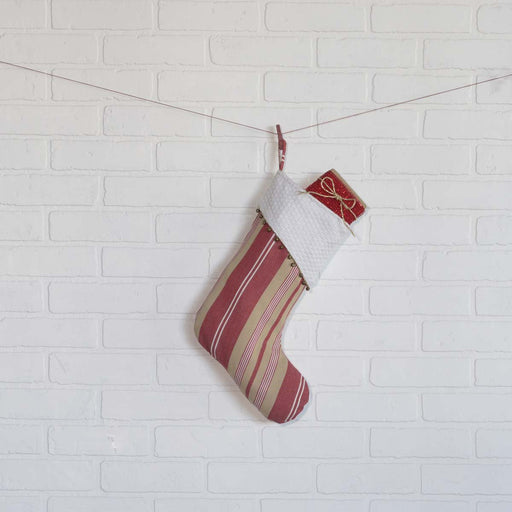 Vintage Stripe Stocking-Stocking-VHC-Wall2Wall Furnishings