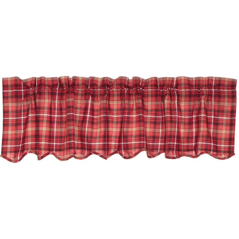 Braxton Scalloped Valance-Valances & Balloon Valances-VHC-Wall2Wall Furnishings