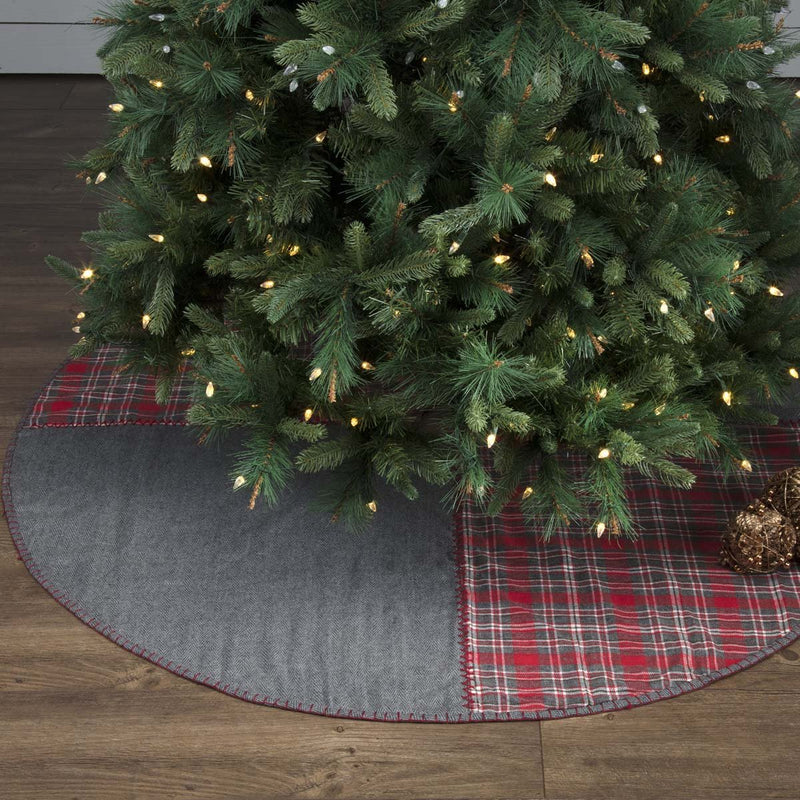 Anderson Patchwork Tree Skirt-Tree Skirt-VHC-Wall2Wall Furnishings