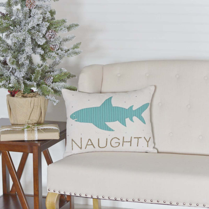 Nerine Shark Pillow 14x18-Accent Pillow-VHC-Wall2Wall Furnishings
