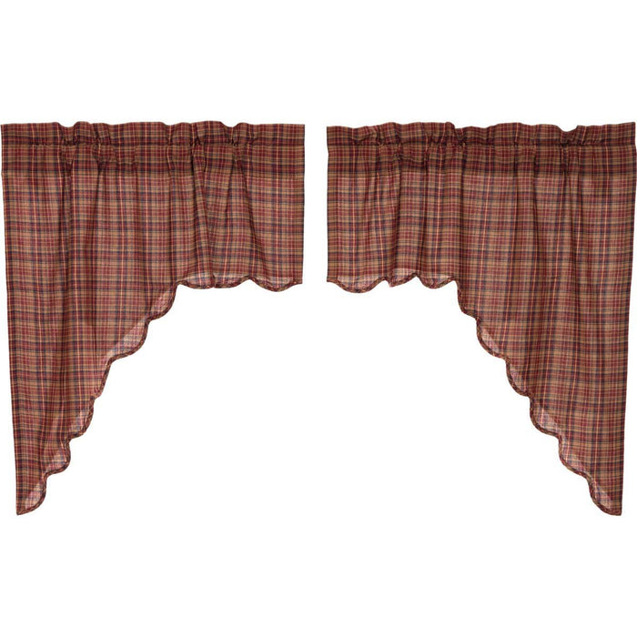 Parker Scalloped Swag Set of 2 36x36x16-Swags & Tiers-VHC-Wall2Wall Furnishings