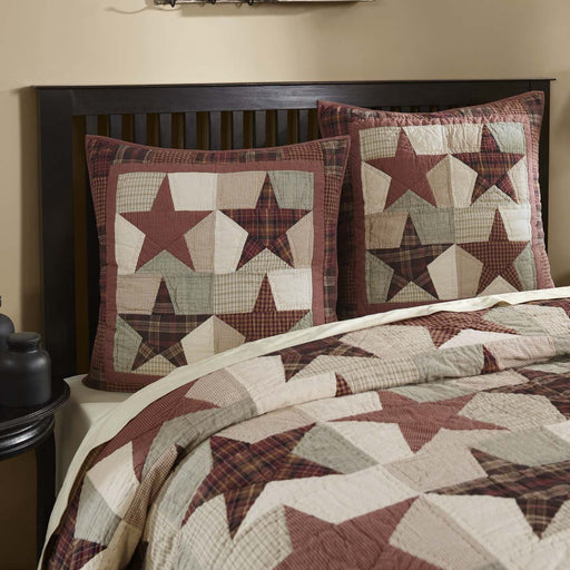 Abilene Star Quilted Euro Sham 26x26-Euro Sham-VHC-Wall2Wall Furnishings