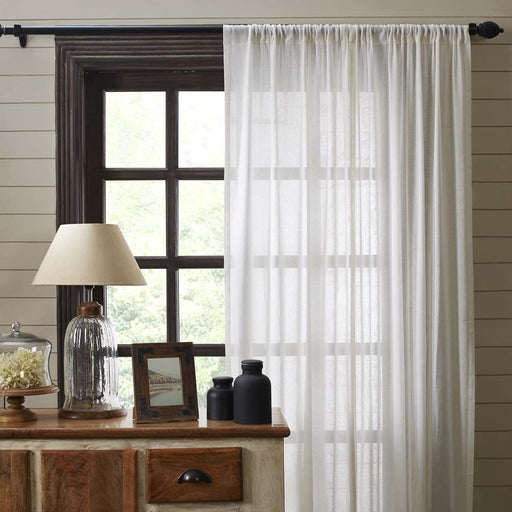 Tobacco Cloth Fringed Panel Set-Curtain Panel-VHC-Wall2Wall Furnishings