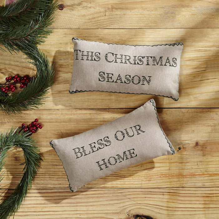 Timberland Christmas Pillow Set of 2 7x13-Accent Pillow-VHC-Wall2Wall Furnishings