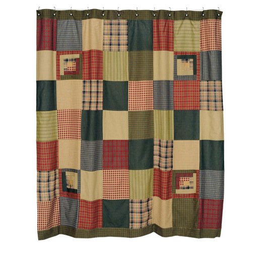 Tea Cabin Shower Curtain Patchwork 72x72-Shower Curtain-VHC-Wall2Wall Furnishings