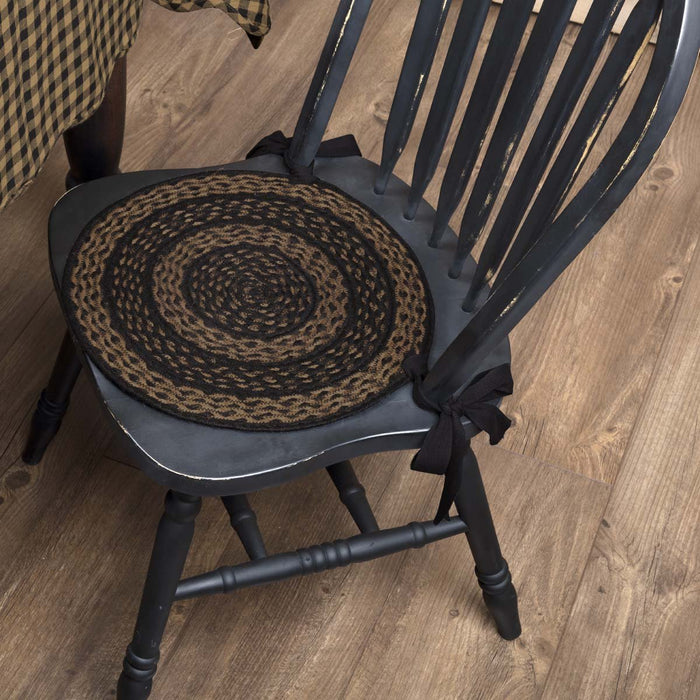 Farmhouse Jute Chair Pad Set of 6-Chair Pad-VHC-Wall2Wall Furnishings