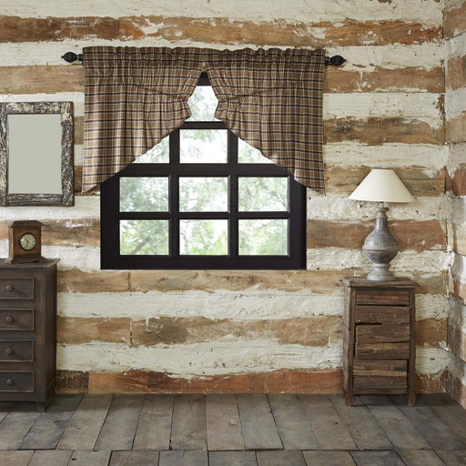 Wyatt Prairie Swag Set of 2 36x36x18-Prairie Swags & Curtains-VHC-Wall2Wall Furnishings
