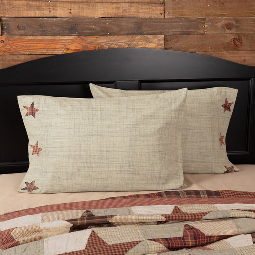 Abilene Star Pillow Case Set-Pillow Case Set-VHC-Wall2Wall Furnishings