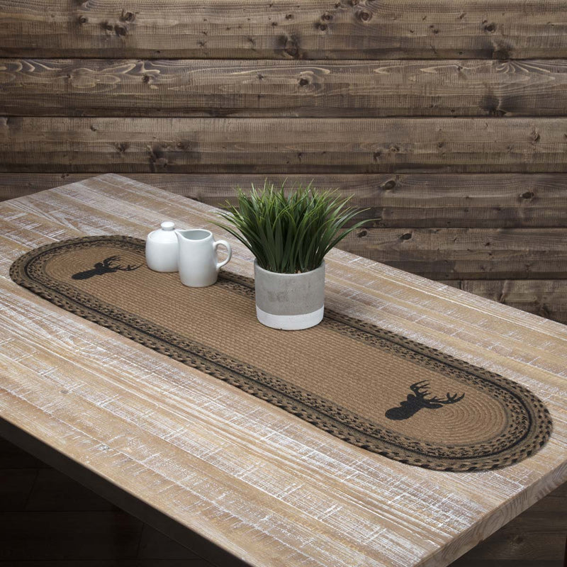 Trophy Mount Jute Oval Runner-Table Runner-VHC-Wall2Wall Furnishings
