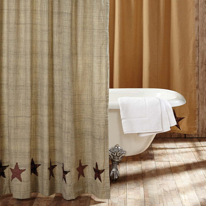 Abilene Star Shower Curtain 72x72-Shower Curtain-VHC-Wall2Wall Furnishings