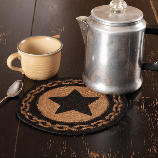 Farmhouse Jute Trivet Stencil Star 8-Trivets, Coasters, & Holders-VHC-Wall2Wall Furnishings