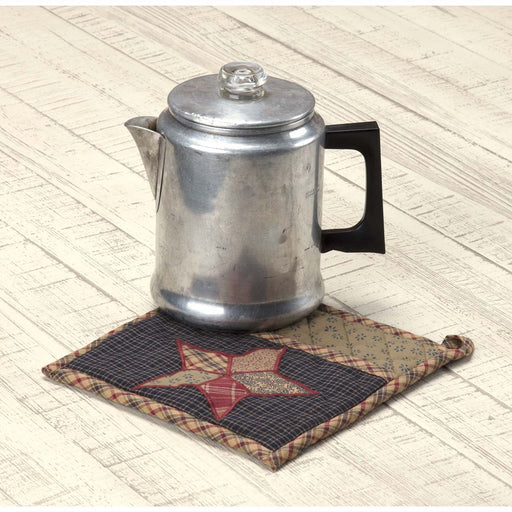 Arlington Pot Holder with Pocket & Patchwork Star 8x8-Trivets, Coasters, & Holders-VHC-Wall2Wall Furnishings