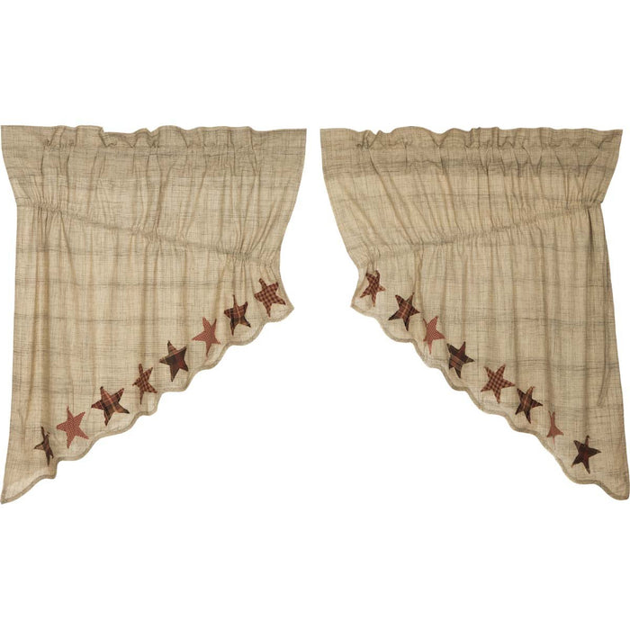 Abilene Star Prairie Swag Set of 2 36x36x18-Prairie Swags & Curtains-VHC-Wall2Wall Furnishings
