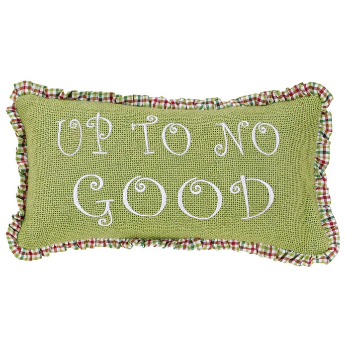 Whimsical Christmas Pillows Up To No Good Set of 2 7x13-Accent Pillow-VHC-Wall2Wall Furnishings