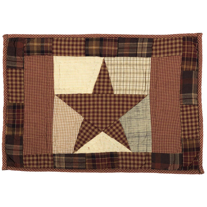 Abilene Star Quilted Placemat Set of 6 12x18-Placemats & Napkins-VHC-Wall2Wall Furnishings