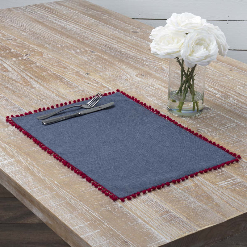 Indi Placemat Set of 6 12x18-Placemats & Napkins-VHC-Wall2Wall Furnishings