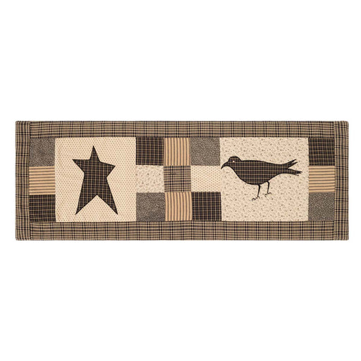 Kettle Grove Crow and Star Runner-Table Runner-VHC-Wall2Wall Furnishings