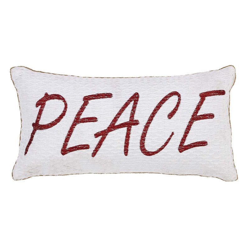 Vintage Stripe Peace & Joy Pillow Set of 3 Asstd Sizes-Accent Pillow-VHC-Wall2Wall Furnishings