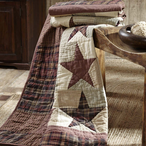 Abilene Star Quilted Throw 70x55-Patchwork & Quilted Throws-VHC-Wall2Wall Furnishings