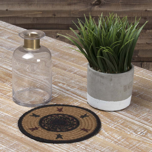 Heritage Farms Star Jute Trivet 8-Trivets, Coasters, & Holders-VHC-Wall2Wall Furnishings