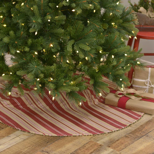 Vintage Stripe Tree Skirt 48-Tree Skirt-VHC-Wall2Wall Furnishings