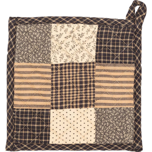 Kettle Grove Pot Holder Patchwork Blocks 8x8-Trivets, Coasters, & Holders-VHC-Wall2Wall Furnishings