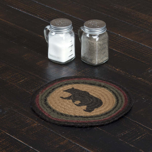 Wyatt Stenciled Bear Jute Trivet 8-Trivets, Coasters, & Holders-VHC-Wall2Wall Furnishings