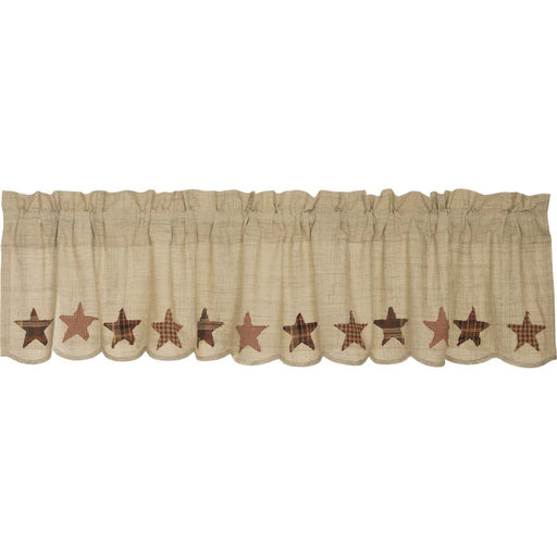 Abilene Star Valance-Valances & Balloon Valances-VHC-Wall2Wall Furnishings