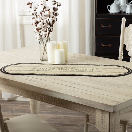 Sawyer Mill Farmhouse Jute Runner-Table Runner-VHC-Wall2Wall Furnishings