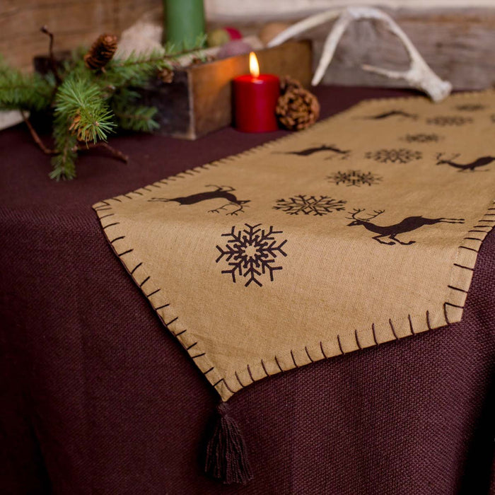 Prancer Runner 13x36-Table Runner-VHC-Wall2Wall Furnishings