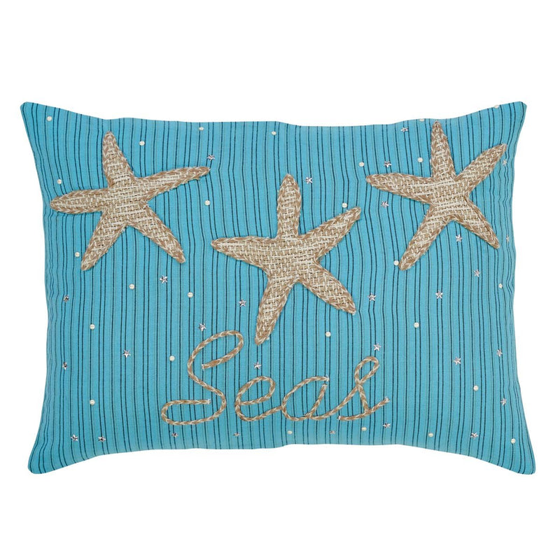Nerine Seas & Greetings Set of 3 Pillows-Asstd Sizes-Accent Pillow-VHC-Wall2Wall Furnishings