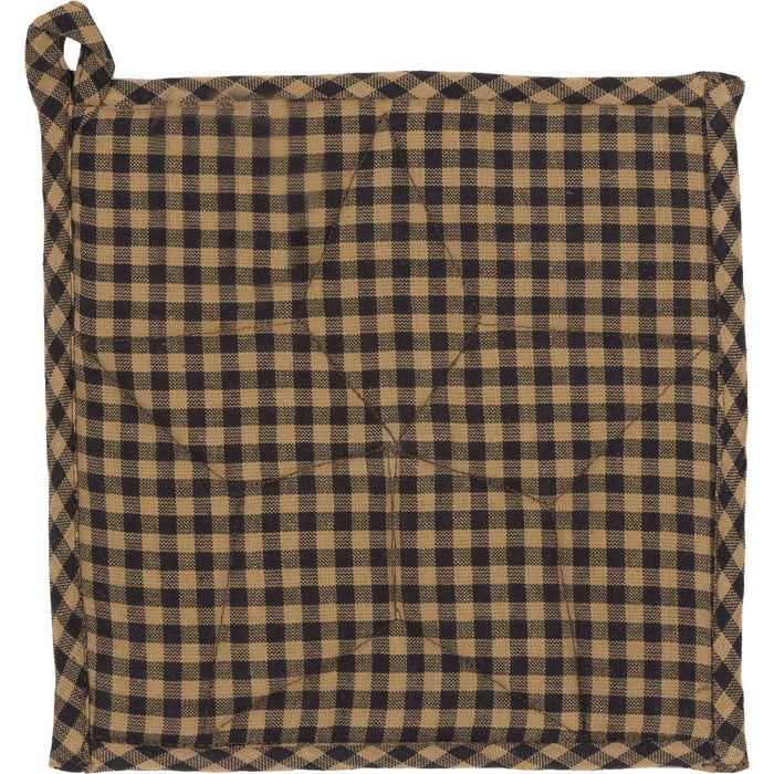 Farmhouse Star Pot Holder 8x8-Trivets, Coasters, & Holders-VHC-Wall2Wall Furnishings