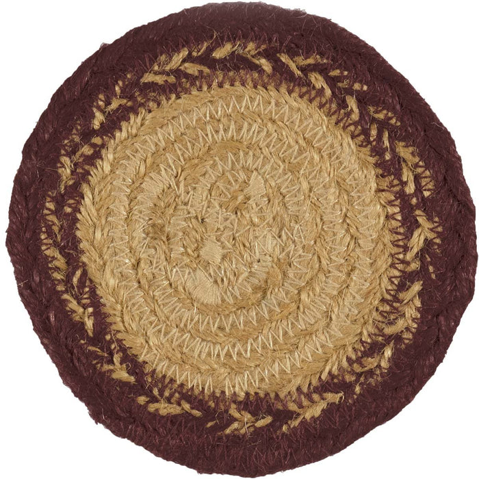 Potomac Jute Coaster Stencil Star Set of 6-Trivets, Coasters, & Holders-VHC-Wall2Wall Furnishings