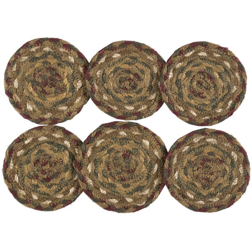 Tea Cabin Jute Coaster Set of 6-Trivets, Coasters, & Holders-VHC-Wall2Wall Furnishings