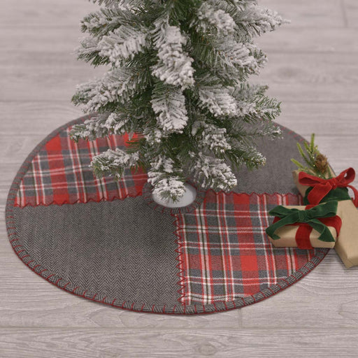 Anderson Patchwork Mini Tree Skirt 21-Tree Skirt-VHC-Wall2Wall Furnishings