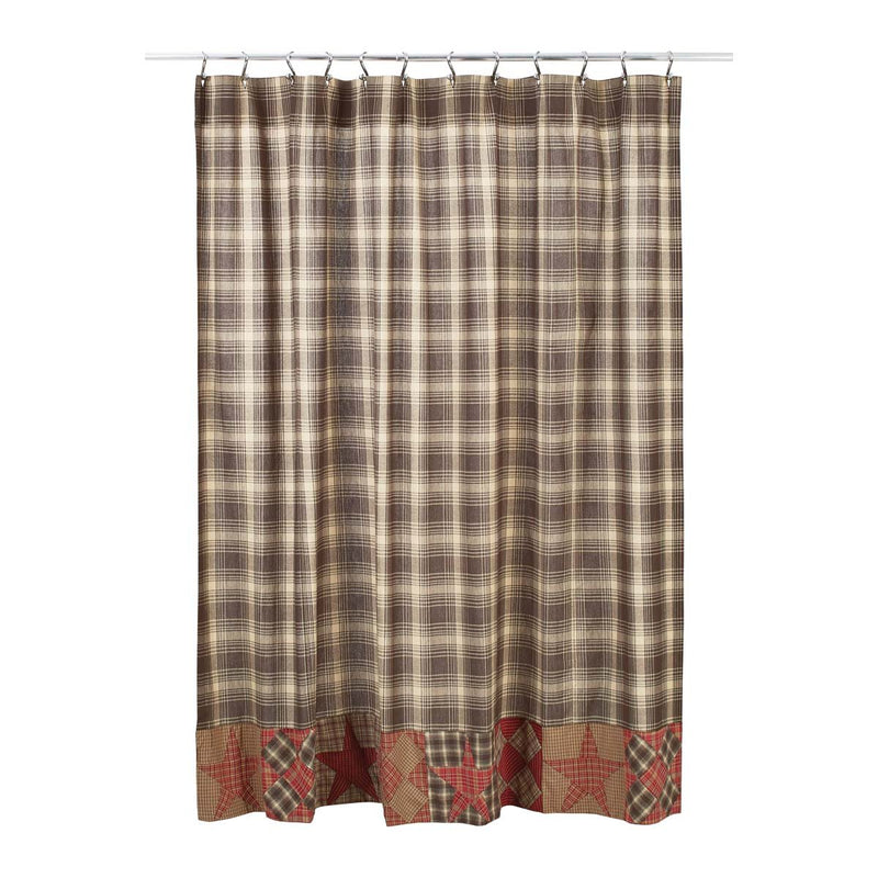 Dawson Star Patchwork Shower Curtain 72x72-Shower Curtain-VHC-Wall2Wall Furnishings