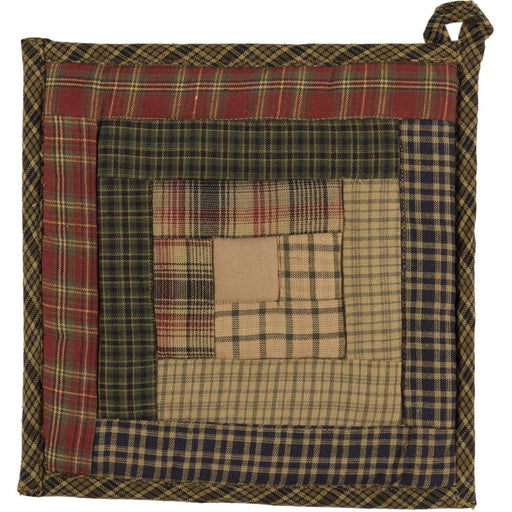Tea Cabin Pot Holder Patchwork 8x8-Trivets, Coasters, & Holders-VHC-Wall2Wall Furnishings
