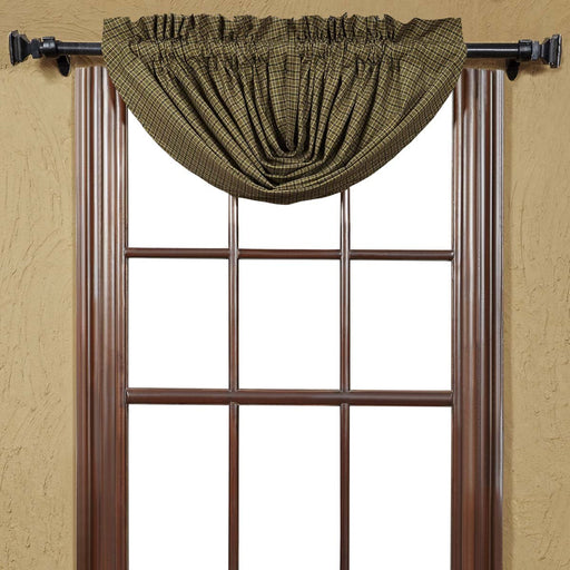 Tea Cabin Green Plaid Balloon Valance 15x60-Valances & Balloon Valances-VHC-Wall2Wall Furnishings