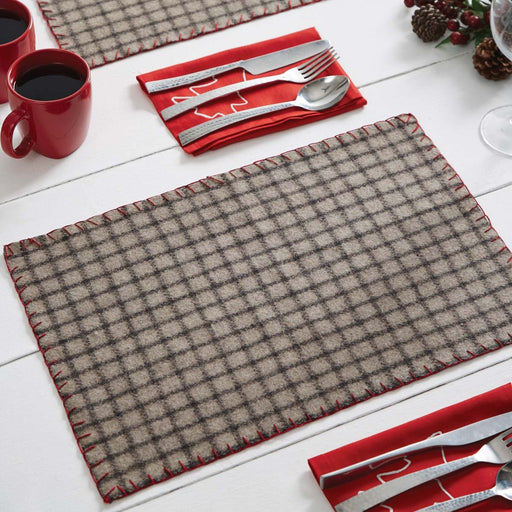 Weston Placemat Set of 6 12x18-Placemats & Napkins-VHC-Wall2Wall Furnishings