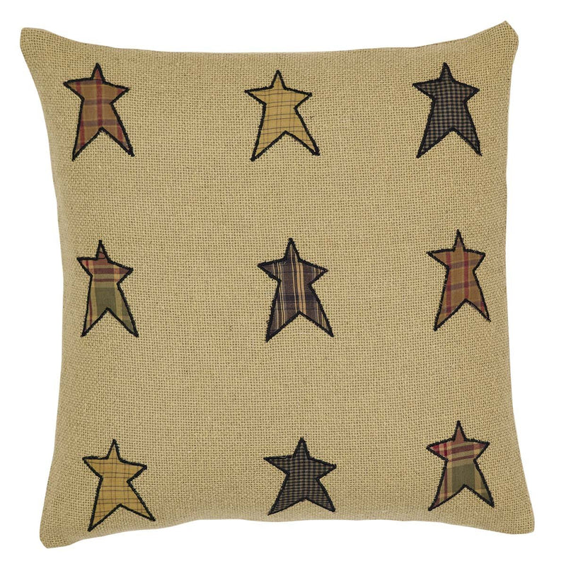 Stratton Applique Star Pillow 16x16-Accent Pillow-VHC-Wall2Wall Furnishings