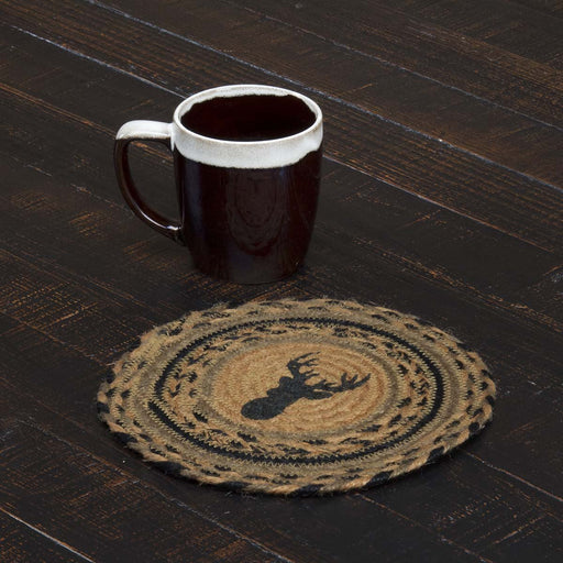 Trophy Mount Jute Trivet 8-Trivets, Coasters, & Holders-VHC-Wall2Wall Furnishings