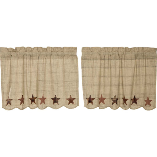 Abilene Star Tier Set-Swags & Tiers-VHC-Wall2Wall Furnishings
