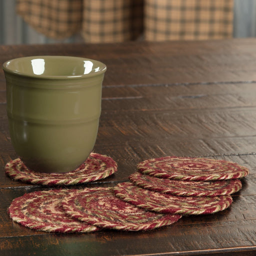 Cider Mill Jute Coaster Set of 6-Trivets, Coasters, & Holders-VHC-Wall2Wall Furnishings